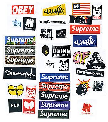 Supreme Classic Box Logo 35 X Skateboard Stickers Car Vinyl Decal Laptop Sticker