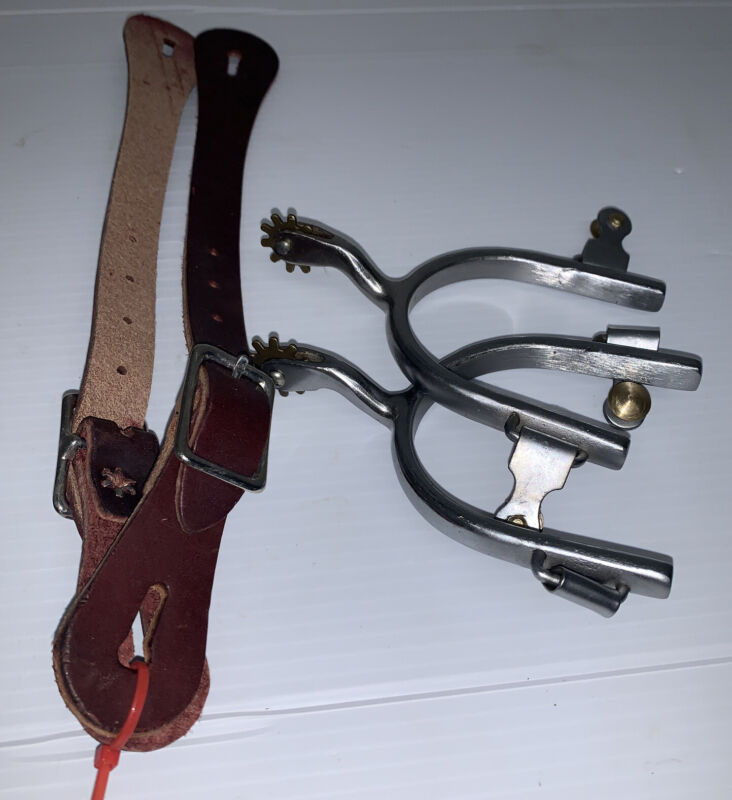 New Set Of Western Spurs With Spur Straps