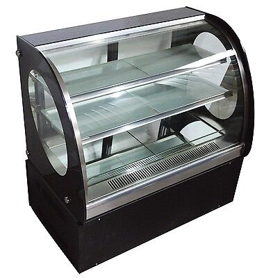 Us New Commercial Countertop Cake Showcase Glass Refrigerated Display Case