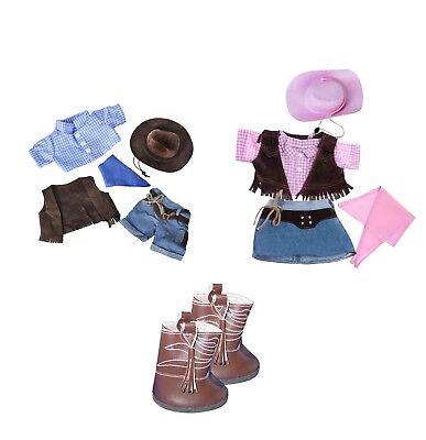 Teddy Bear Clothes  - Cowboy outfit - Build a Bear (teddy mountain)