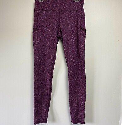Z by Zobha Purple Black Digital Print Flow Tight Leggings size M 8-10 Yoga