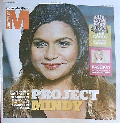 La Times Marketplace Magazine June 2015 Mindy Kaling Gwyneth Paltrow Fashion