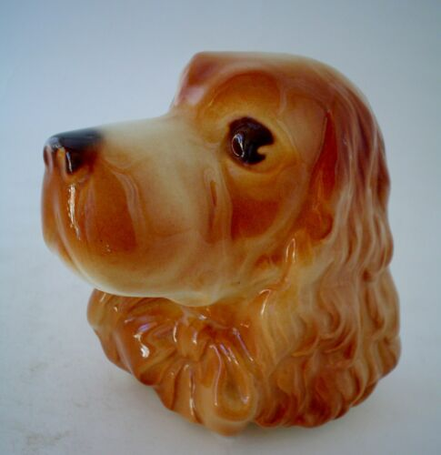 Vintage Royal Copley Cocker Spaniel Wall Pocket