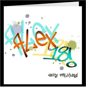 Boys-PERSONALISED-18th-Birthday-Card-GRAFITTI-STYLE
