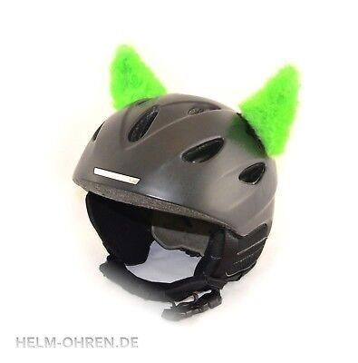 Hörnchen /Ohren Teufel Hörner f Helm Skihelm Snowboardhelm Kinderhelm Hellgrün