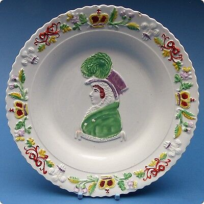 c1820 Hand Decorated Queen Caroline Plate