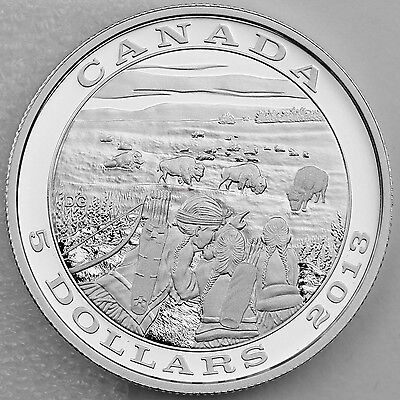 Canada 2013 $5 Bison - Tradition of Hunting Series - Pure Silver Proof Coin ()