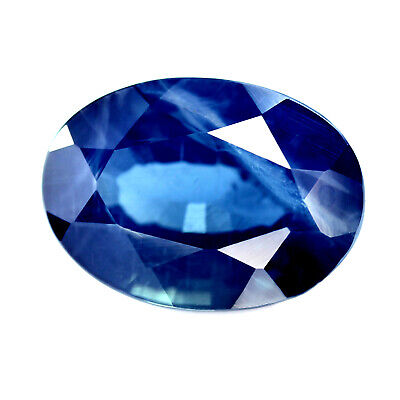 Certified 1.98cts Natural Blue Sapphire SI Clarity Madagascar Oval 8.3x5.9 mm