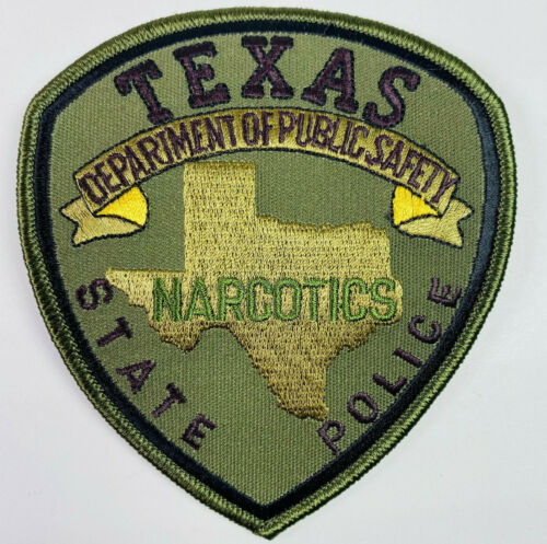 Texas Narcotics State Police Department Of Public Safety TX OD Green Patch A4