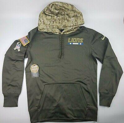 Detroit Lions Mens Sweatshirts - Detroit Lions NFL Salute To Service Nike Sideline Men's Hoodie Sweatshirt USA