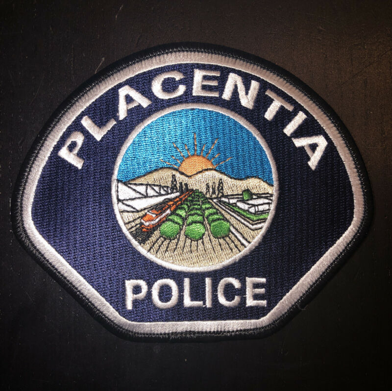 Placentia California Police Department Patch