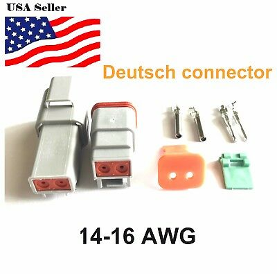 2-pin Deutsch Dt02 Engine Gearbox Waterproof Electrical Connector
