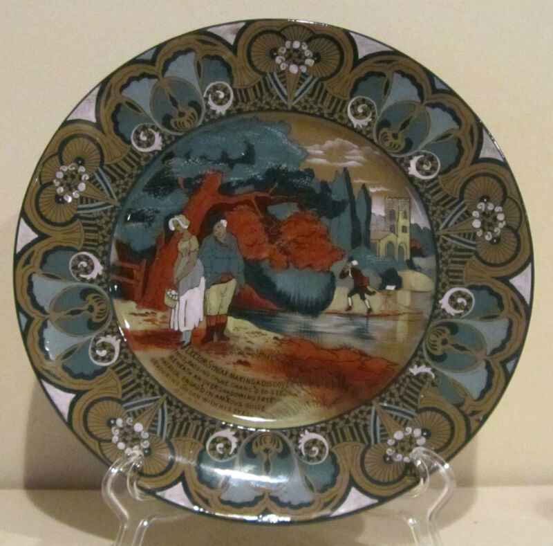 """Buffalo Pottery Emerald Deldare Ware Dr. Syntax 10"""" Plate"""