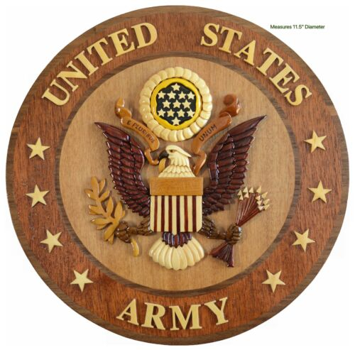 U.S. ARMY EMBLEM - ARMY PLAQUE - Handcrafted Military Wood Art Plaque