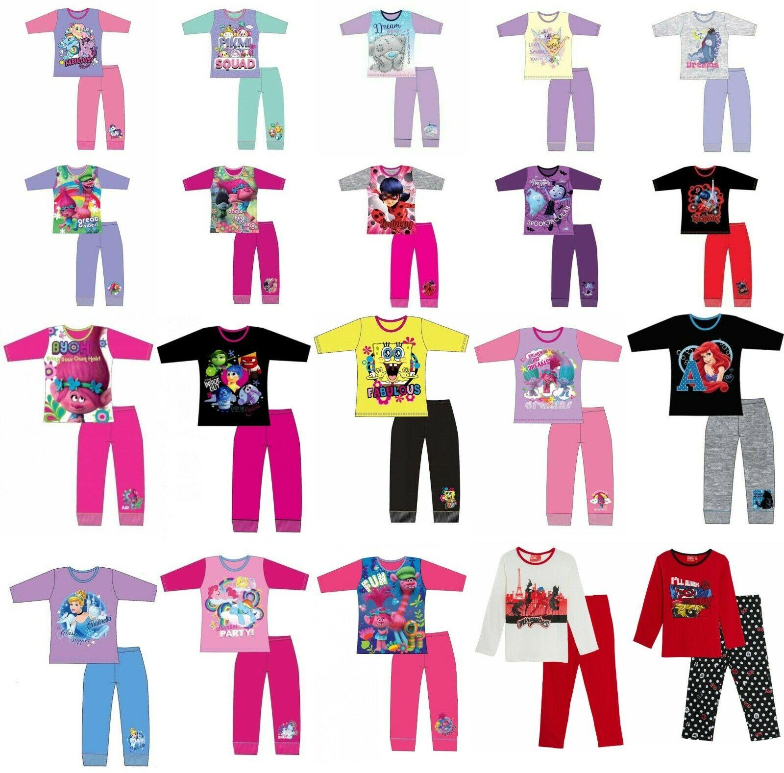 Girls Boys Pyjamas nightwear nightie sleepwear kids character short long