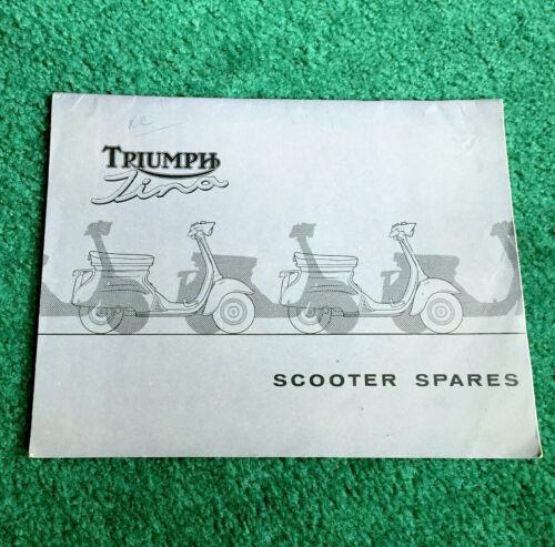 ORIGINAL 1962 TRIUMPH TINA SCOOTER PARTS MANUAL CATALOG MOTORCYCLE