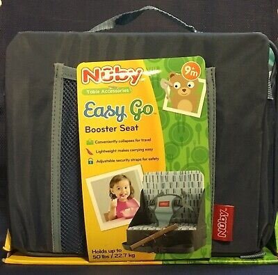 Nuby Easy Go Booster Seat Collapsible 9+ Months Holds 50 Lbs Brand New! Go Booster Feeding Seat