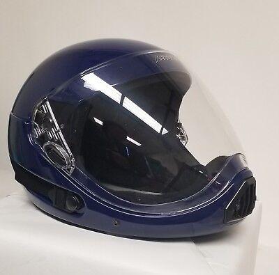 ~ NEW~ PHANTOM XV ~ Full Face Skydiving Helmet from SQ1 XX LARGE ~ NAVY BLUE 2ND
