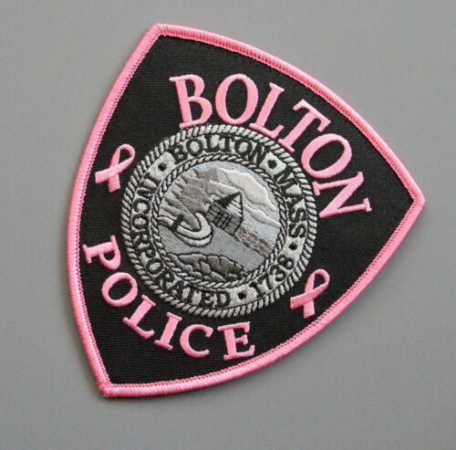 Bolton Massachusetts Police Pink Patch +++ Breast Cancer Awareness CA