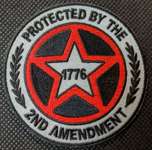 Protected By The 2nd Amendment 1776 Embroidered Biker Patch
