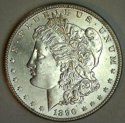 1890 Morgan Silver One Dollar Uncirculated Philadelphia Mint US $1 Coin #JC-4