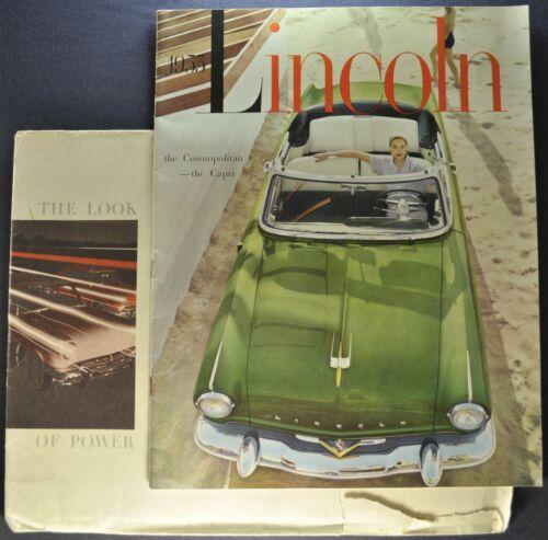 1953 Lincoln Large 20pg Brochure Cosmopolitan Capri Excellent Original 53