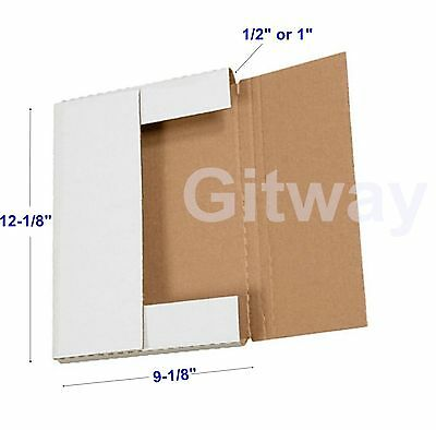 50 Set 12 18 X 9 18 X 1 Multi Depth Cardboard Book Mailer Shipping Box Boxes