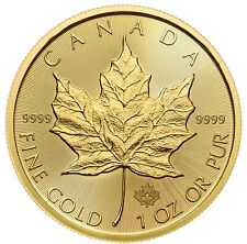 Presale - 2020 $50 Gold Canadian Maple Leaf .9999 1 oz Brilliant Uncirculated