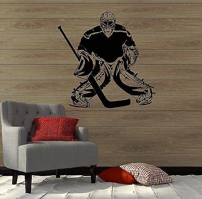 Wall Decal Hockey Sport Player Sports Fan Goalkeeper Vinyl Stickers (ig2863)
