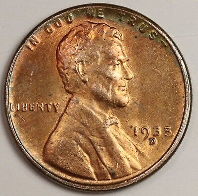 1935-d Lincoln Head Cent.  Original Uncleaned B.U.  120104