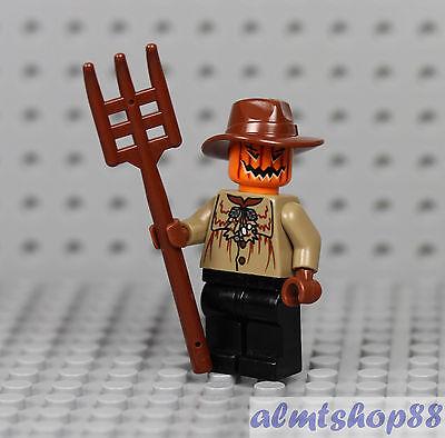 LEGO - Halloween Scarecrow Minifigure - Pumpkin Head Pitchfork Zombie Monster II - Halloween Ii Pumpkin