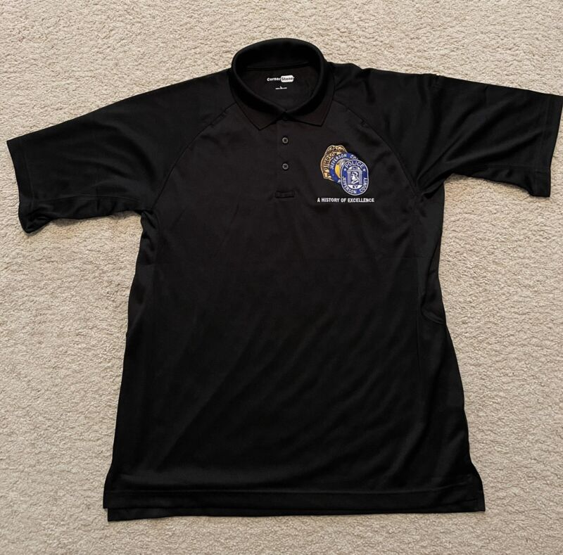jefferson county police kentucky tactical polo shirt black Large embroidered NEW