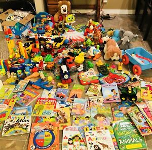 LOTS OF TOYS ,BOOKS AND PUZZLES..
