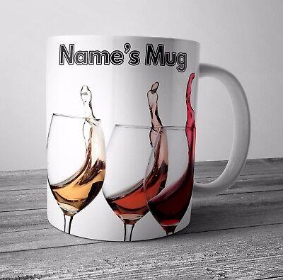 Personalisierte Tasse / Tee Kaffeetasse Wein Trinker -