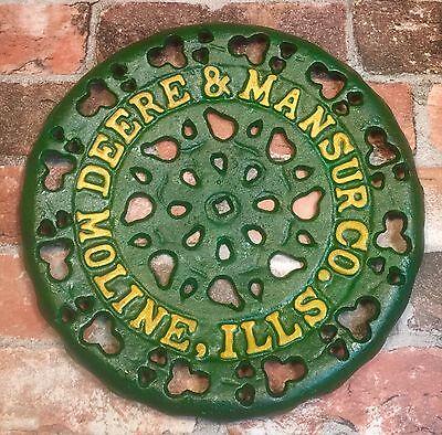 Deere   Mansur Co   Moline  Il  Vintage 11 5  Cast Iron Seat Sign
