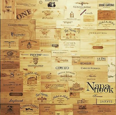 30 Assorted & Branded Wine Panels From Crates (Wine Box) Sides/Ends/Tops Wood
