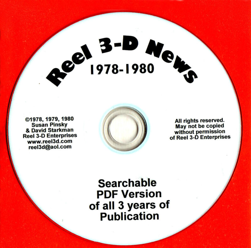 Reel 3-D News 1978-1980 CD with all 3 years in searchable PDF Format View-Master