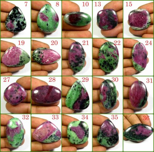 NATURAL RUBY ZOISITE CABOCHON MIX SHAPE RARE~ LOOSE GEMSTONE FREE SHIPPING RZ-A