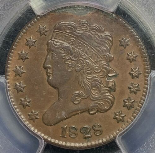 1828 Classic Head Half Cent 1/2C PCGS XF (EF) Details Cohen-3, 13 Stars