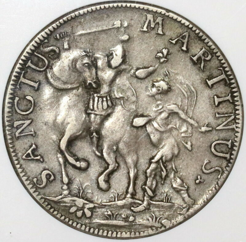 1749 NGC VF 30 Lucca Scudo Italy State Republic Crown Silver Coin (20020104C)