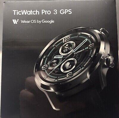 "NEW Mobvoi Ticwatch Pro 3 GPS Black Shadow AMOLED 3.56 cm (1.4"") GPS (satellite)"