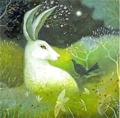 PAGAN WICCAN GREETING CARD Jade & Moss GODDESS HARE Nature CELTIC AMANDA CLARK