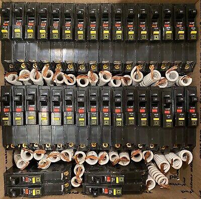 Square D Qo120gfi Qo120gfic 20amp Gfci Ground-fault Circuit Breaker New