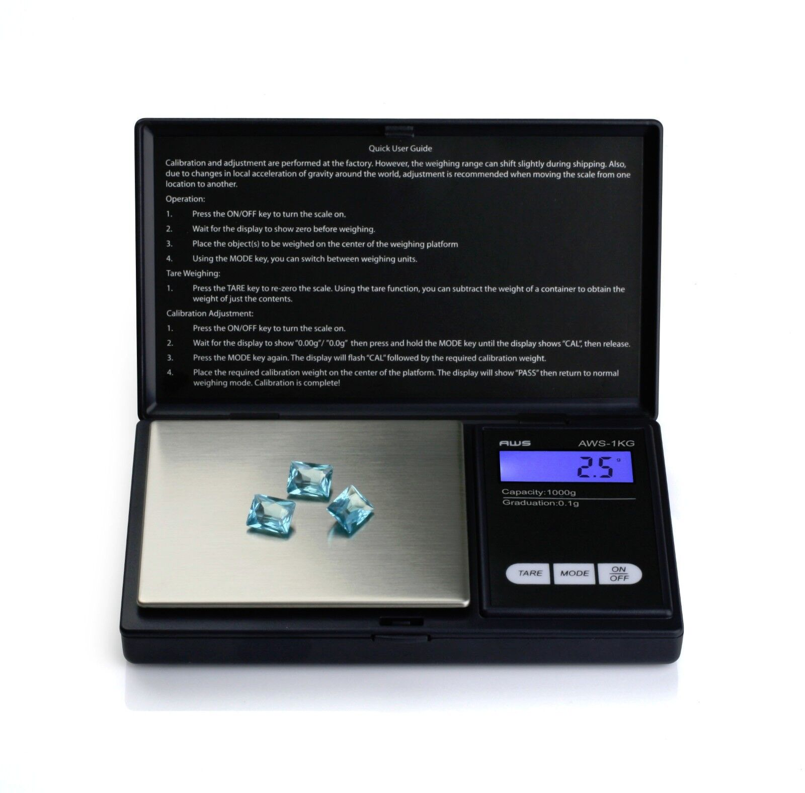 AWS Digital Scale 1000g x 0 1g Jewelry Gold Silver Coin Gram Pocket Size Herb | eBay