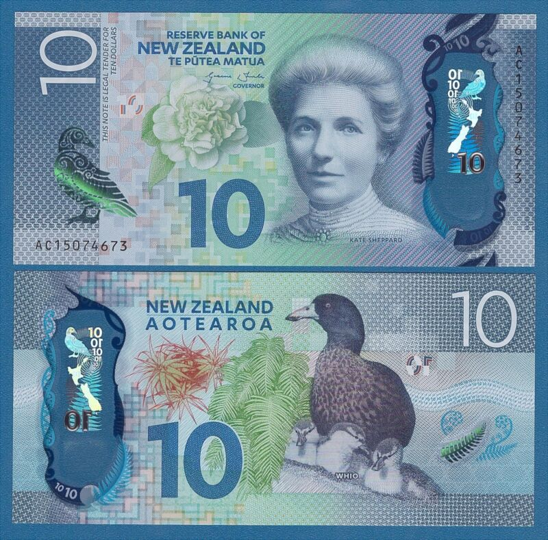 New Zealand 10 Dollars P 192 2015 UNC Low Shipping! Combine FREE! Polymer 1 note