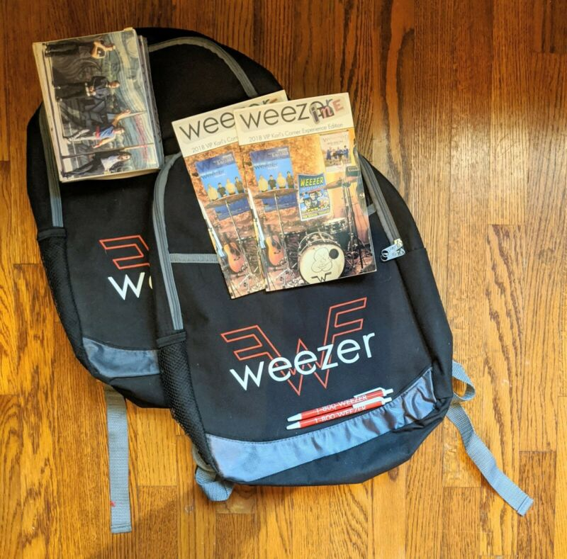 Weezer VIP Tour Backpack w/ pen, puzzle and Karl