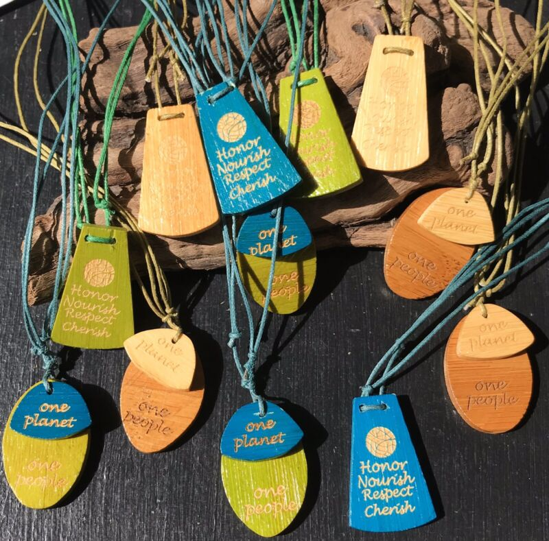 12pc Wholesale Carver Bamboo Necklace Lot Jewelry