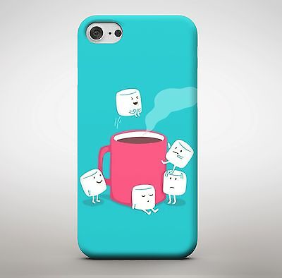 Marshmallow Hot Chocolate Real Life Food Funny Meme Cute Faces Phone Case - Cute Marshmallows