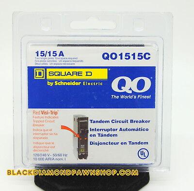 Square D Circuit Breaker Qo1515c 2p 15a New