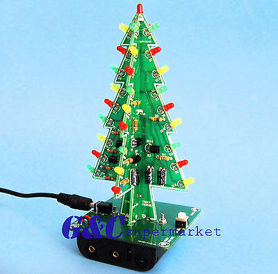Christmas Trees Led Diy Kit Professional Red Green Flash Led Circui M111